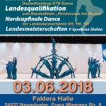 Plakat Landesmeisterschaft Gymnastik und Tanz